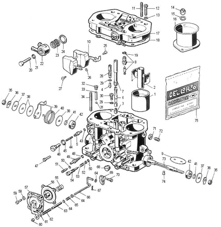 Dellorto 40 Drla Parts Diagram